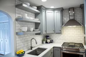 Blanco Precis Sink Cinder by Brite White Subway Tile 3x6 Classic French Gray Shaker Cabinets