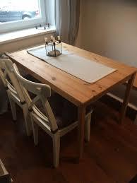 ikea ingo tisch zwei ingolf stühle sitzbank
