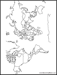 Printable Blank World Map Coloring Page