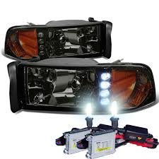 HID Xenon + 94-01 Dodge Ram Pickup 1-Piece LED Crystal Headlights ... 62017 Chevy Silverado Trucks Factory Hid Headlights Led Lights For Cars Headlights Price Best Truck Resource 234562017fordf23f450truck Dodge Ram Xb Led Fog From Morimoto 02014 Ford Edge Drl Bixenon Projector The Burb 2007 2500 Suburban 8lug Hd Magazine Starr Usa Ck Pickup 881998 Starr Vs Light Your Youtube Sierra Spec Elite System 2002 2006 9007 Headlight Kit Install Writeup Diy Fire Apparatus Ems Seal Beam Brheadlightscom Vs Which Is Brighter Powerful Long Lasting