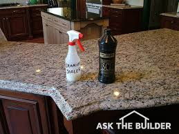 granite sealer is clear and it really works look at my granite