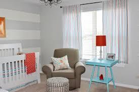 Baby Room Exciting Grey White Stripe Nursery Room Design