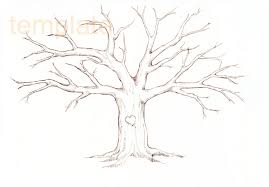 Family Tree Template Thumbprint