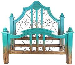 Wrought Iron And Wood King Headboard by Wood And Wrought Iron Bedsswirl Design Queen Wood With Metal
