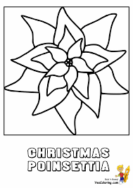 Christmas Flower Coloring Pages Best Of