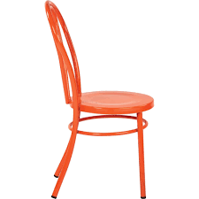 Odessa Metal Dining Chair With Backrest, 2-Pack - Walmart.com Saddle Leather Ding Chair Garza Marfa Jupiter White And Orange Plastic Modern Chairs Set Of 2 By Black Metal Cafe Fniture Buy Eiffel Inspired White Orange With Legs Grand Tuscany Total Sizes Wd325xh36 Patio Urban Kitchen Shop Asbury With Chromed Velvet Vivian Of World Market Industrial Design Slat Back Products Flash Indoor Outdoor Table 4 Stack