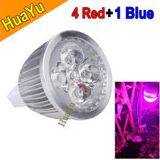 energy saving 4 1 blue led plant grow light mr16 5w hydroponic