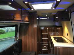 Steveus Sprinter Van Conversions Uk Camper Conversion Project Build A Mercedes U Shape Rear Lounge Graphite