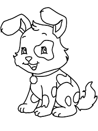 Coloring Pages Printable Cute Puppy Of Cutes Animals Great Focusing Early Learning Improve Important Fine