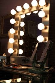 light bulb vanity mirror with bulbs around it large for in awesome