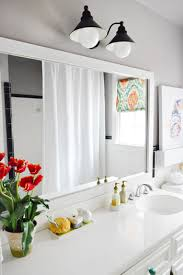 how to build a wood frame around a bathroom mirror house