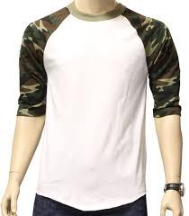 new 3 4 sleeve camo raglan baseball mens army camouflage sports t