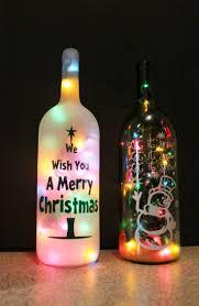 Wine Bottle Cork Holder Wall Decor by Best 25 Lighted Wine Bottles Ideas On Pinterest Christmas Wine