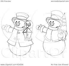 Frosty Snowman White Christmas Tree by Royalty Free Rf Clipart Illustration Of A Digital Collage Of