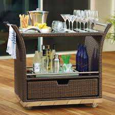 outdoor serving table with storage