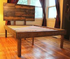 Headboard Designs For King Size Beds by Rustic Minimalist Solid Wood King Size Platform Bed Frame And