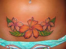 Hawaiian Flower Tattooput On My Lower Back