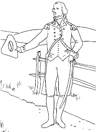 Online George Washington Coloring Page 60 For Seasonal Colouring Pages With