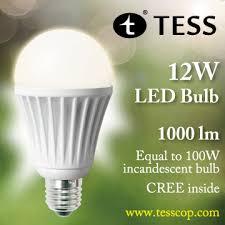 tess launches the 12w 1000 lumen led bulb leds