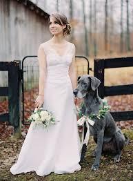 Bride With A Dog Wearing Flower Garland