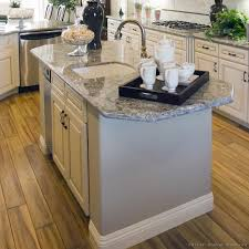 Kitchen Island With Prep Sink And Pull Out Sprayer Faucet Wide Plank Wood