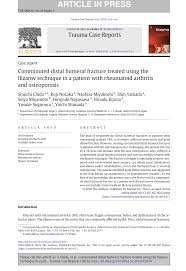si e orthop ique comminuted distal humeral fracture treated the ilizarov