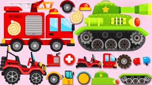 Cars & Trucks For Kids | Construction Vehicles, Fire Truck, Tank For ... Ambulance Video For Children Kids Truck Fire And Rescue Tow Youtube Alphabet Garbage Learning Vacuum Trucks Color Cars In Spiderman Cartoon Videos Colors Pictures Of For Group 67 Monster Road Roller Excavator