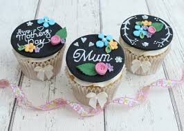Mothers Day Chalkboard Cupcakes