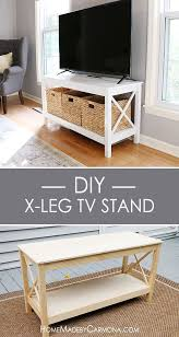 Learn How To Build This Stylish X Leg TV Stand And Impress Your Guests