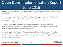 Open Door Program Presentation to Affordable Housing mittee