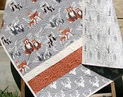 Woodland Creatures Nursery Bedding by Sale Gender Neutral Quilt Baby Blanket Nursery Crib Bedding