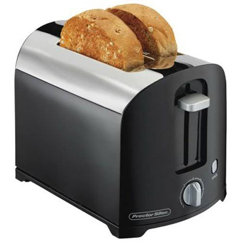 Proctor Silex Toaster - Black Chrome