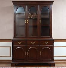 Ethan Allen Mahogany Dining Room Table by Ethan Allen Dining Room China Cabinet Ebth