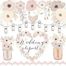 Premium Vector Rustic Wedding Clipart Cage Shabby Chic