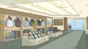 Inside A Clothing Shop For Men Background