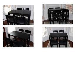 crate barrel triad high dining table 4 triad barstool