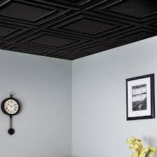 Black Drop Ceiling Tiles 2x2 by Gallery Genesis Ceiling Panels