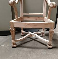Vanguard Furniture Unfinished Carved Dining Arm Chair Frame ...