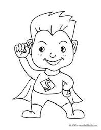 Childrens Superhero Coloring Pages
