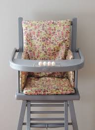assise chaise haute coussin de chaise haute liberty enduit poppy and demeure des anges