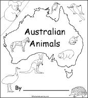 Australian Animals A Printable Book