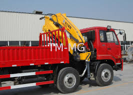Durable SQ8ZK3Q Cargo Folding Boom Truck Mounted Crane 8 Ton For ...
