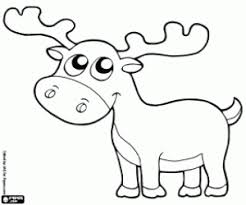 Reindeer Caribou Advertisement Snowy Owl Coloring Page
