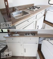 Scamp Travel Trailer Kitchen Update