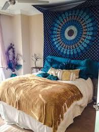 Tapestry covered headboard Dream Home Pinterest