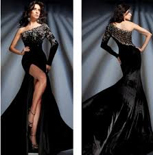 black long sleeve evening gown promotion shop for promotional
