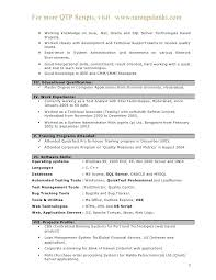 Software Testing Resume Samples 2 Years Experience Automation Test Engineer Sample Sap Hp