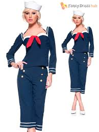 ladies pin up sailor costume adults 1950s navy fancy dress