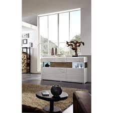 sideboard weiß eiche dunkel beleuchtung kommode anrichte wohnzimmer