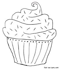 Perfect Birthday Cake Coloring Pages Printable 55 In Books With